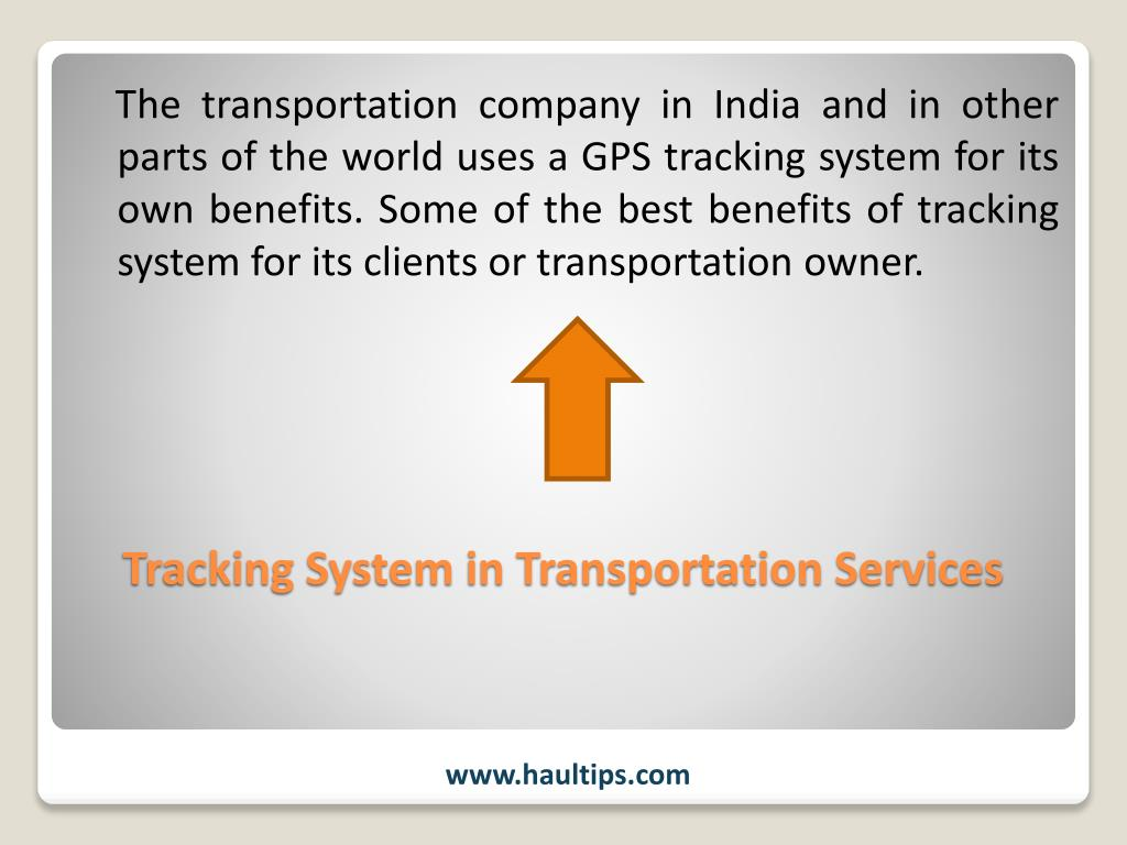 PPT - GPS Tracking System in Transportation PowerPoint