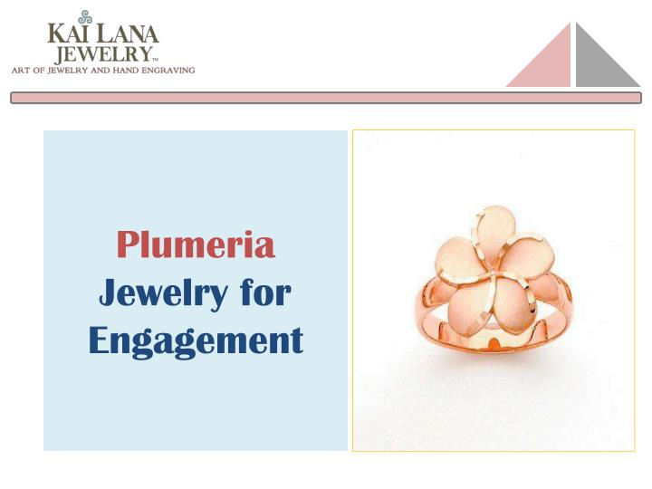 plumeria jewelry for engagement n.