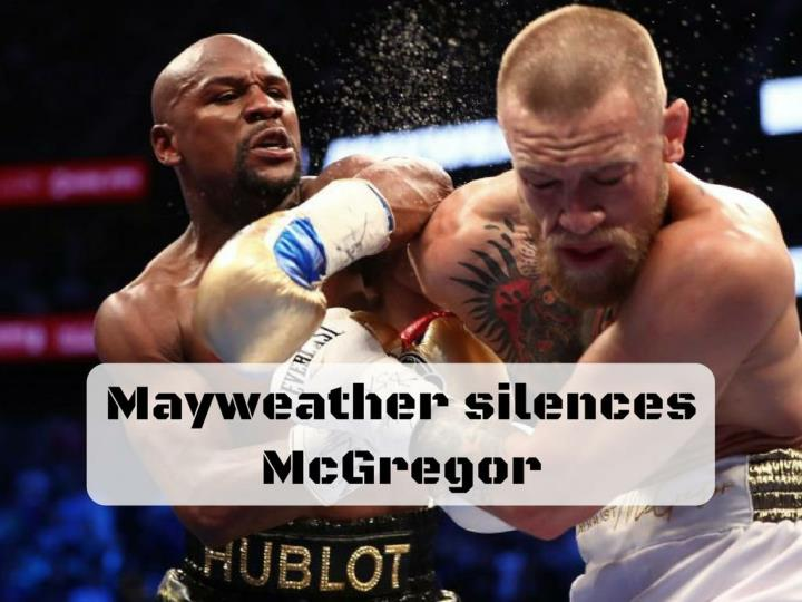 mayweather silences mcgregor n.