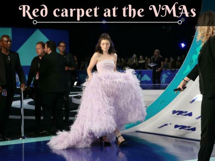 red carpet at the vmas n.