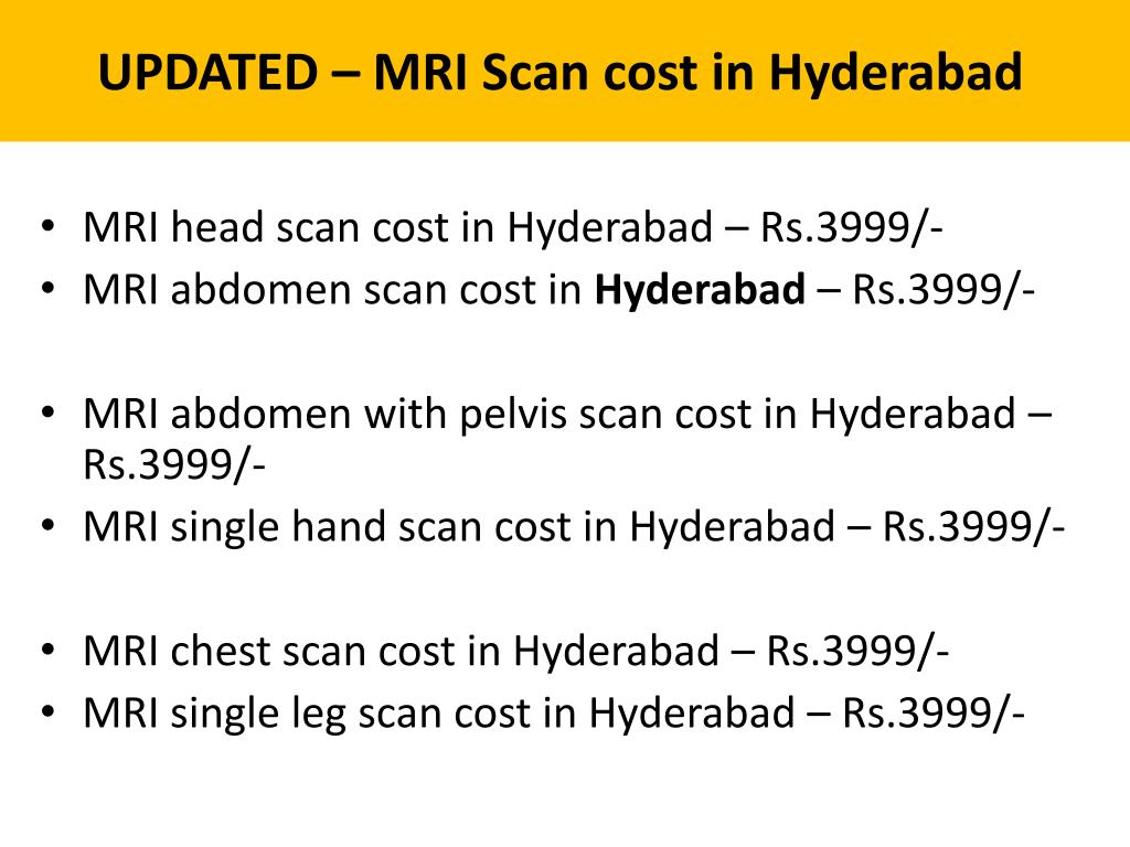 PPT - MRI scan cost in Hyderabad - BookMyScans PowerPoint