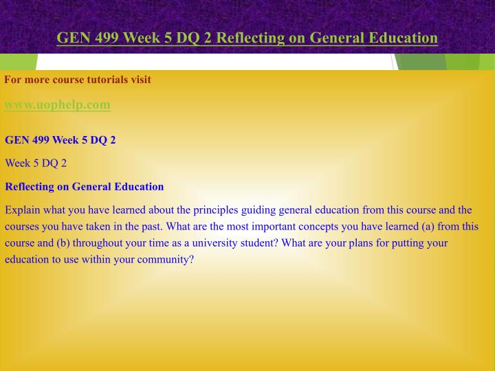 gen 499 Buy here: gen 499 week 1 assignment reflecting on personal identity and global citizenship review the global education and global citizenship video and read the article a model of global citizenship: antecedents and outcomes by stephen reysen and iva katzarska-miller.