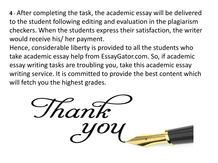 complete academic essays Academic essays then you are ready to register as a writer at academia-researchcom sometimes there is a 2-page essay for $4 each page last day i have completed an order for $7.