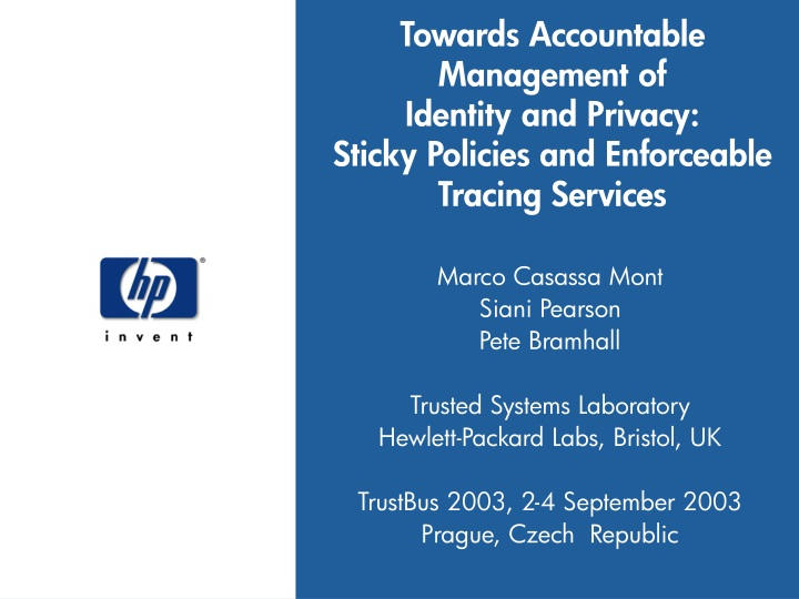 towards accountable management of identity n.