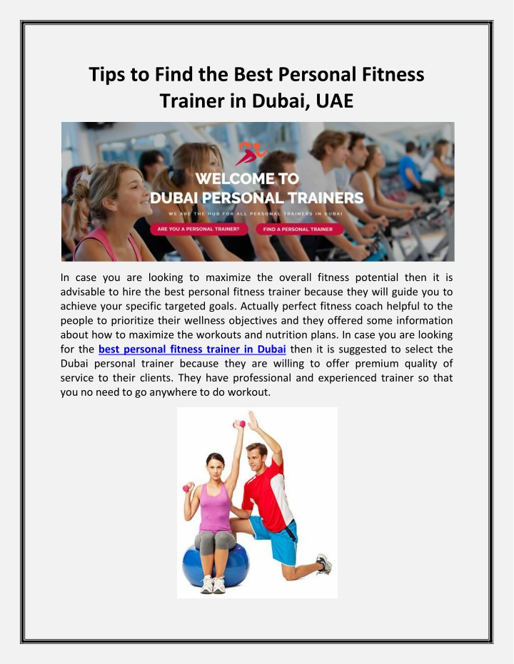 tips to find the best personal fitness trainer n.