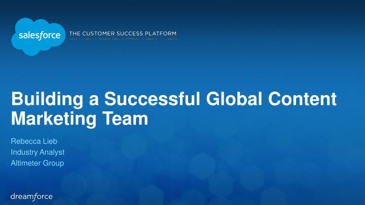 building a successful global content marketing team n.