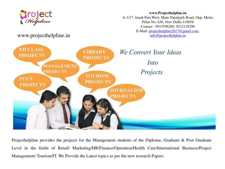PPT - Management Projects Available for BBA/MBA Students