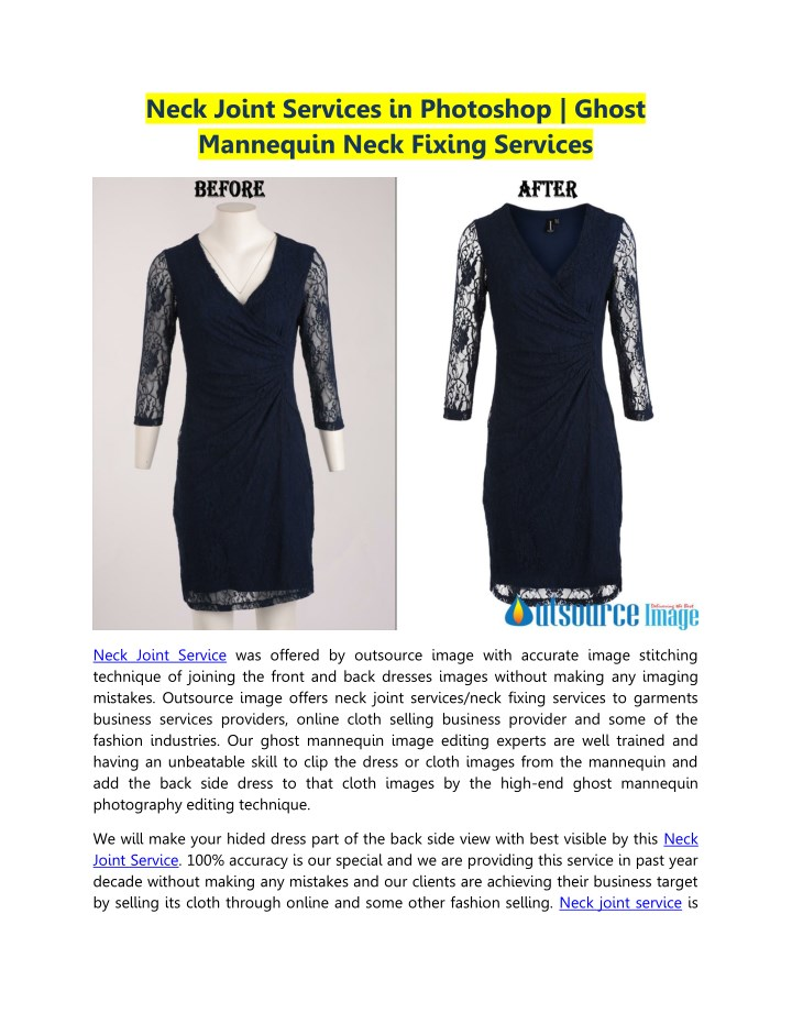 neck joint services in photoshop ghost mannequin n.