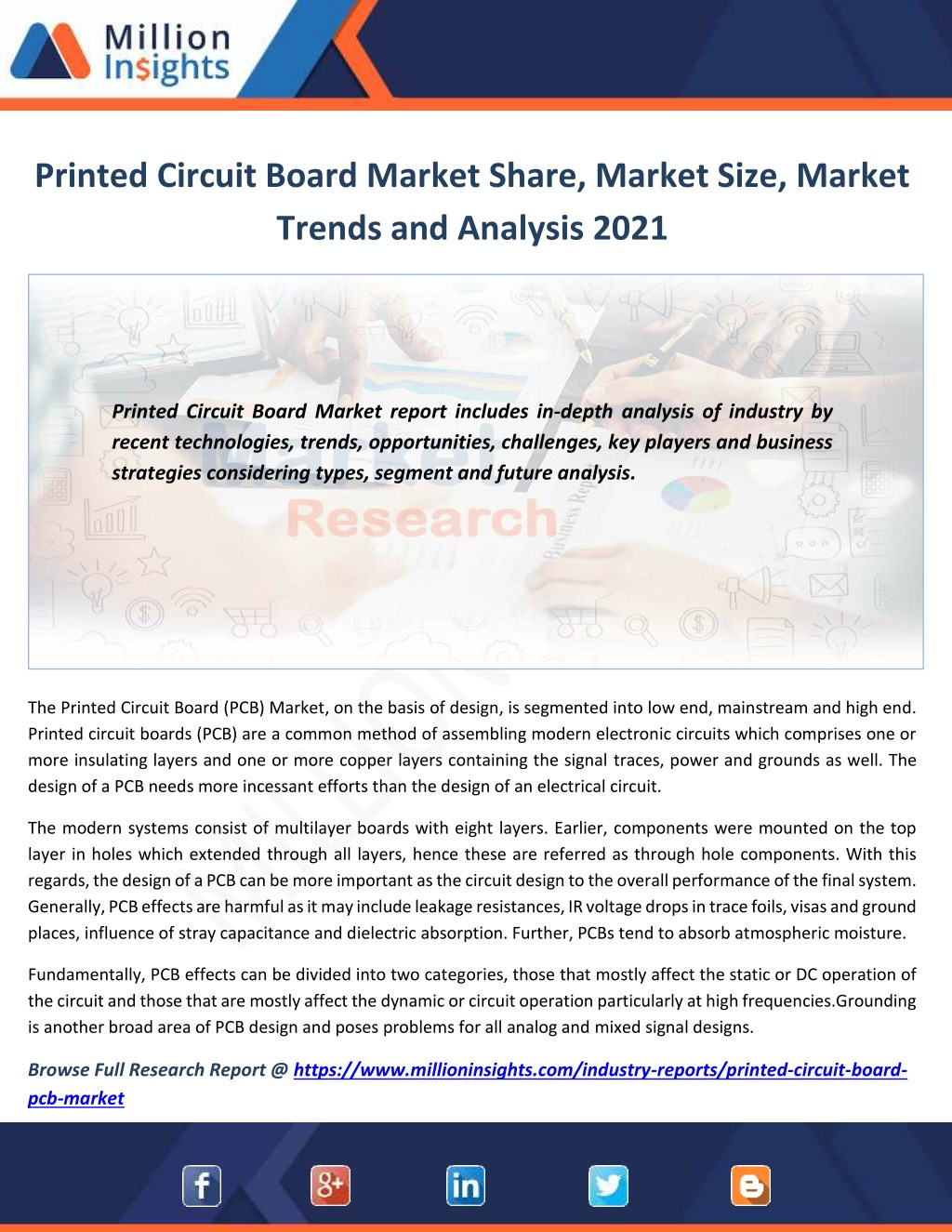 Ppt Printed Circuit Board Market To 2021 Industry Size Share Boards Pcb N