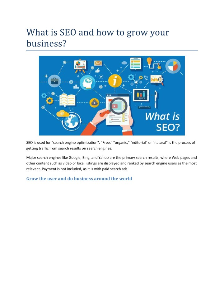 what is seo and how to grow your business n.