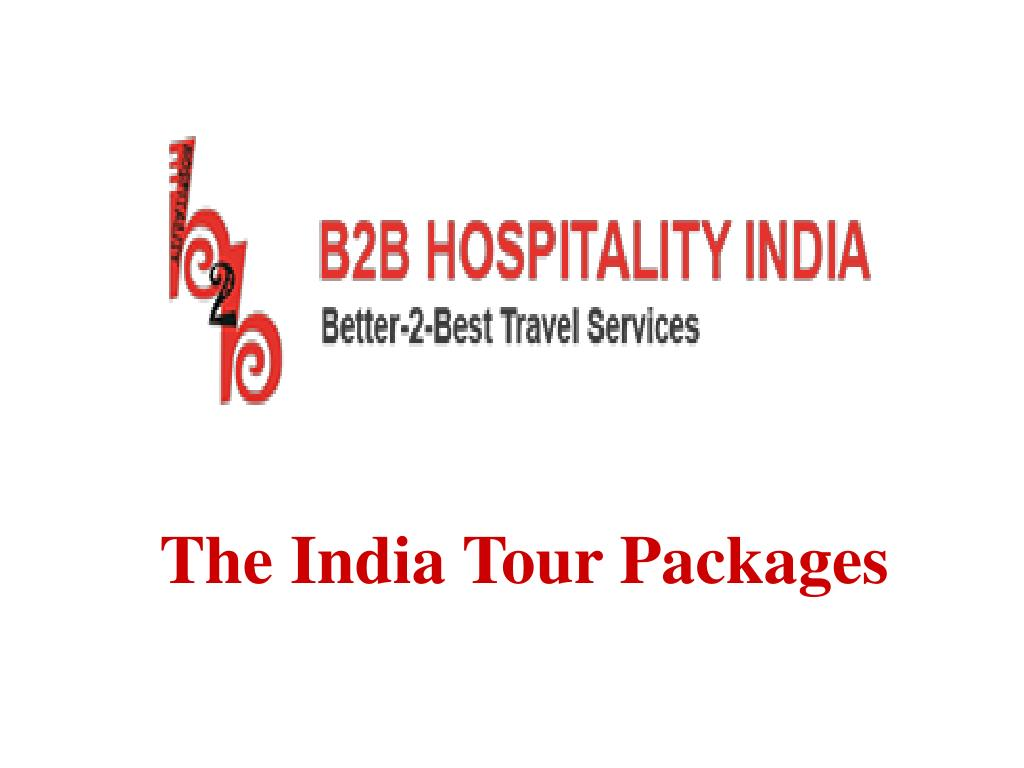 PPT - Indian Travel Agency - B2B Hospitality PowerPoint