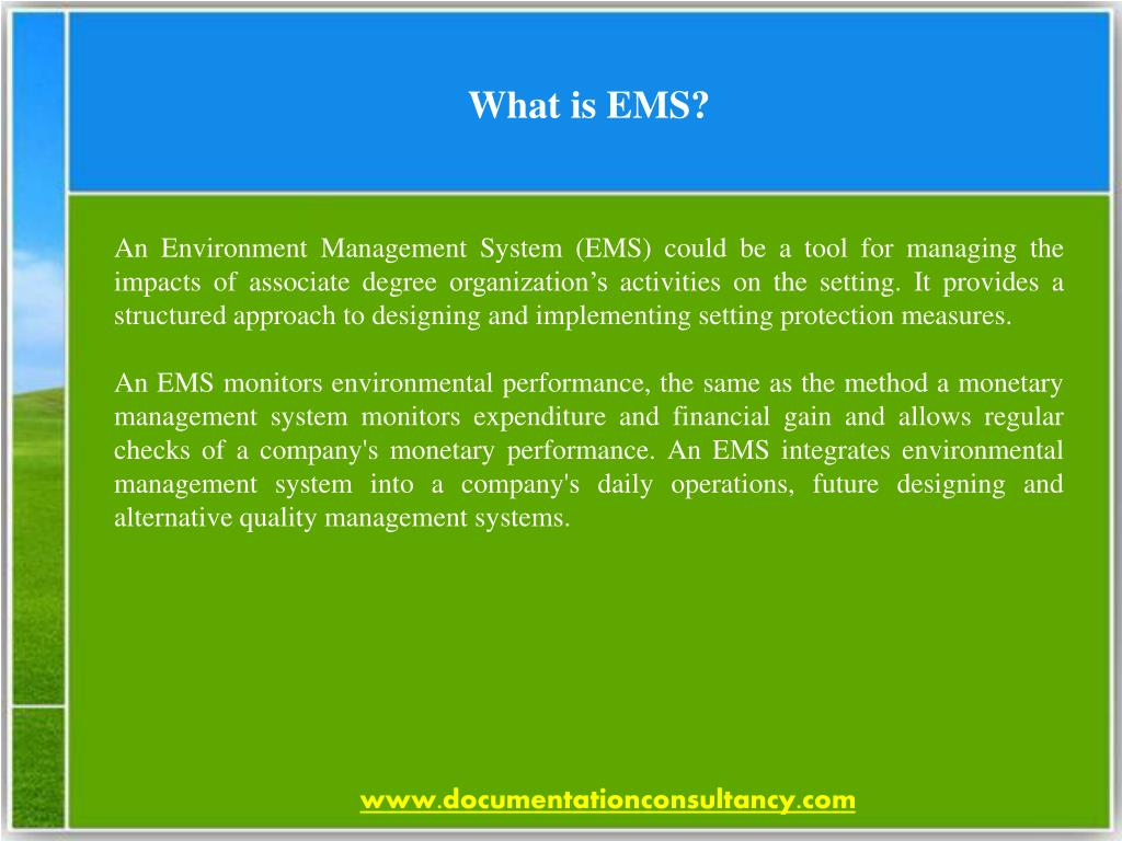 PPT - Overview of ISO 14001 Environment Management System PowerPoint