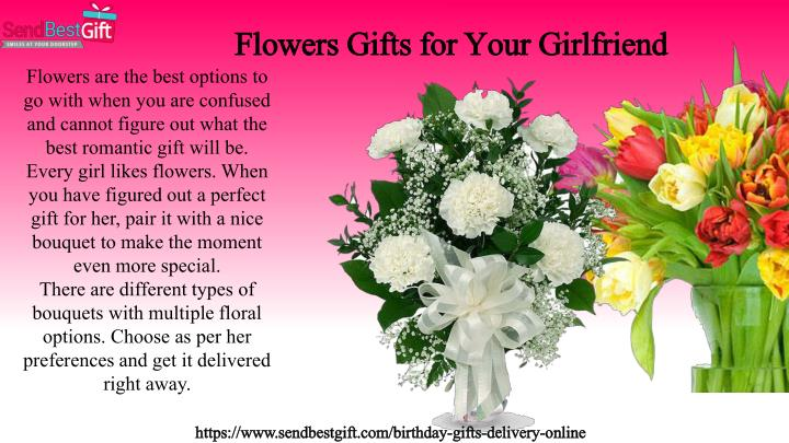 Flowers Gifts For Your Girlfriend