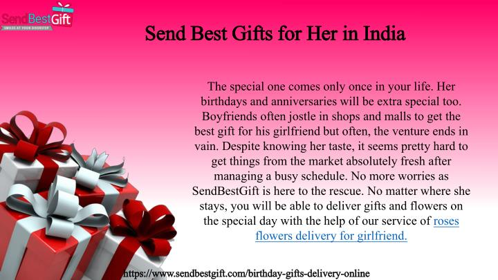 Send Best Gifts For Her In India