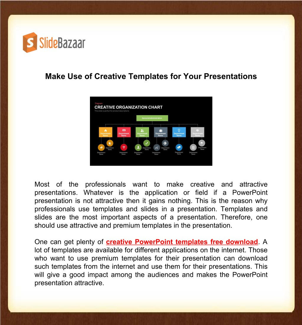 Ppt Make Use Of Creative Templates For Your Presentations