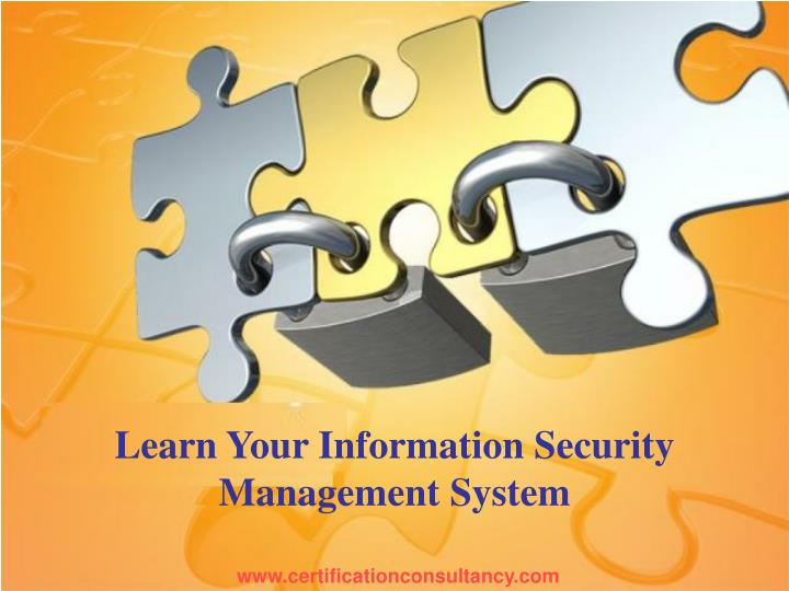 learn your information security management system n.