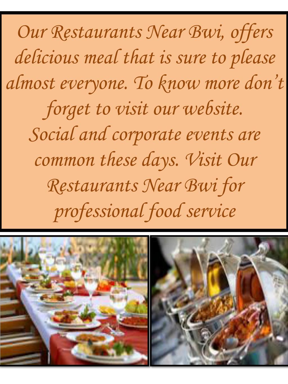 Ppt Visit Our Restaurants Near Bwi Point Presentation
