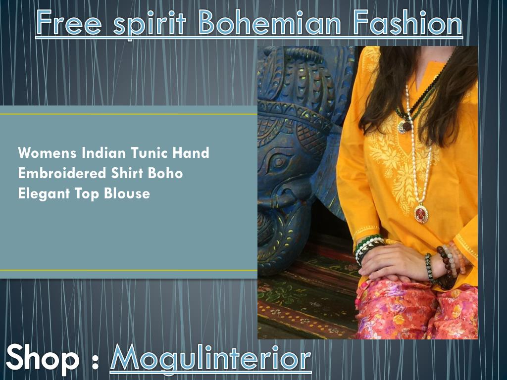 Ppt Free Spirit Bohemian Fashion By Mogulinterior Powerpoint