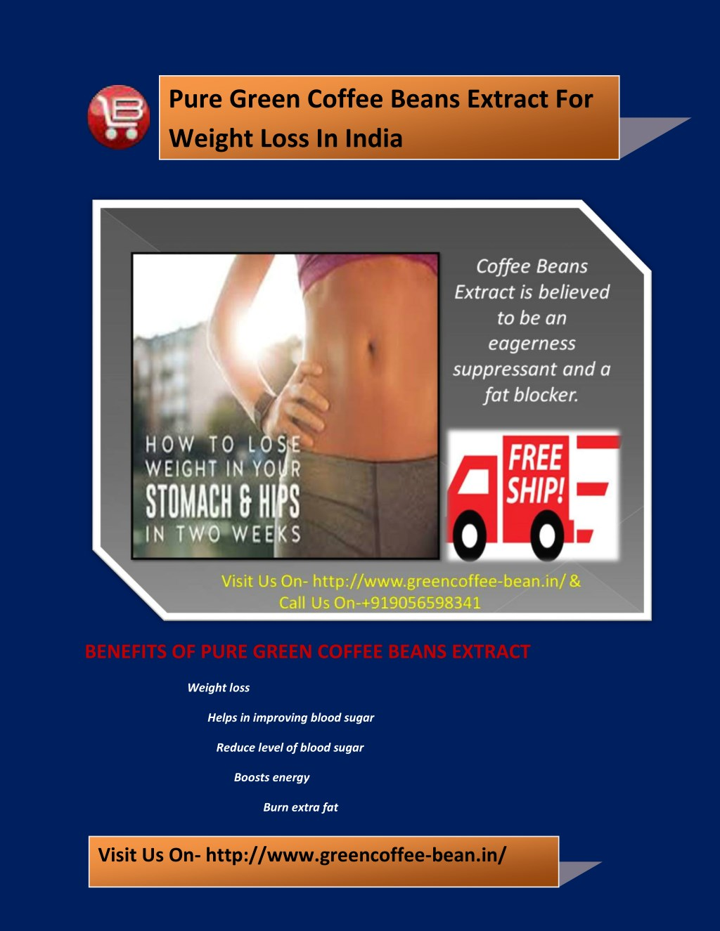 Ppt Pure Green Coffee Beans Extract For Weight Loss In India