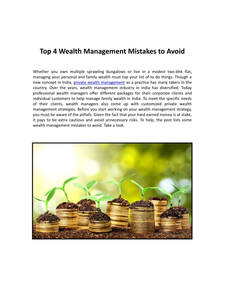 top 4 wealth management mistakes to avoid n.