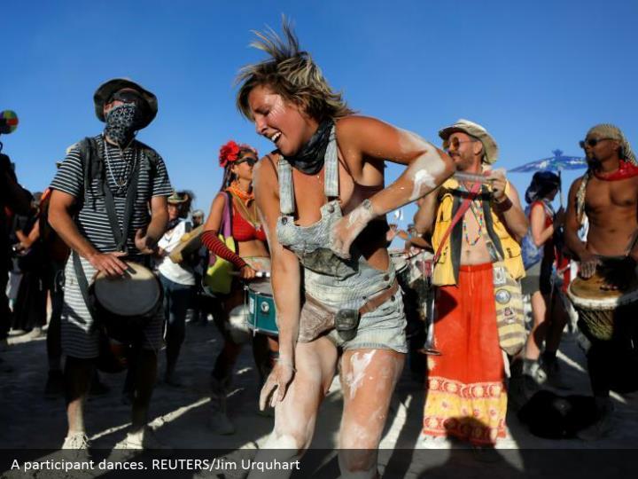 A participant dances. REUTERS/Jim Urquhart