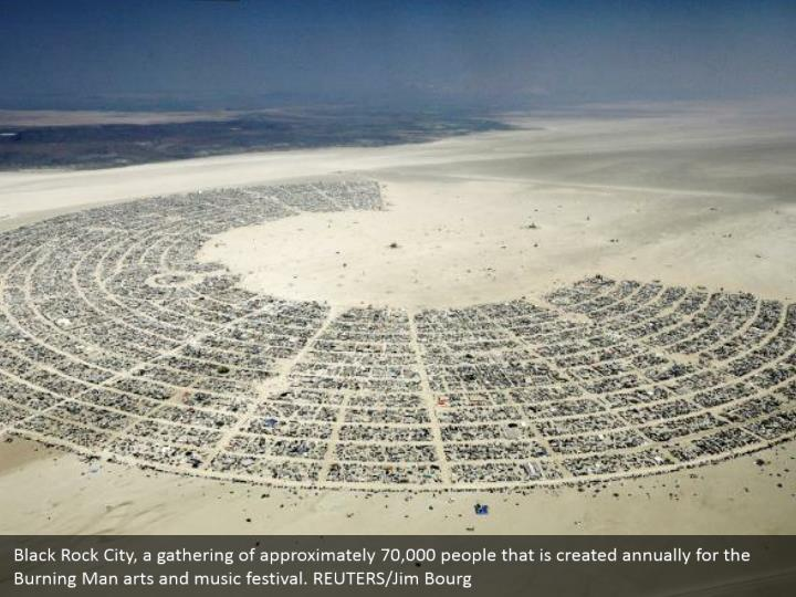 Black Rock City, a gathering of approximately 70,000 people that is created annually for the Burning Man arts and music festival. REUTERS/Jim Bourg