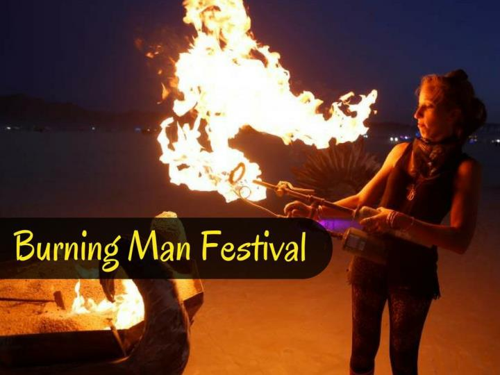 burning man festival n.