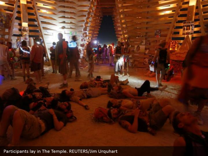 Participants lay in The Temple. REUTERS/Jim Urquhart