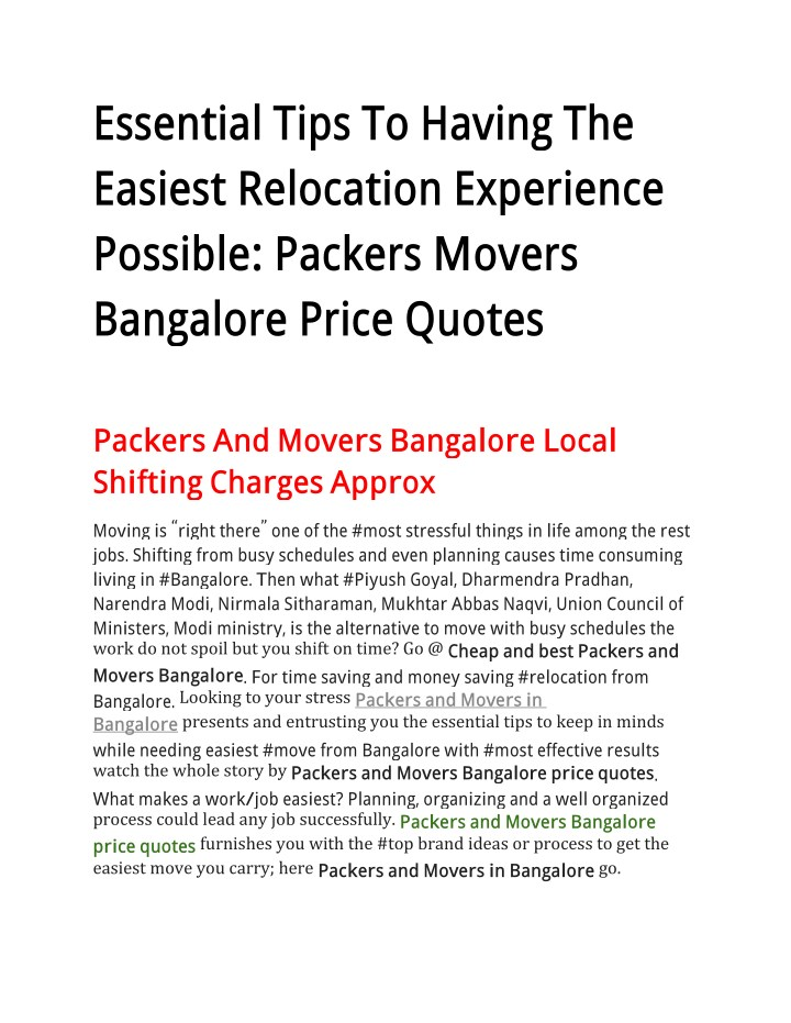 essential tips to having the easiest relocation n.