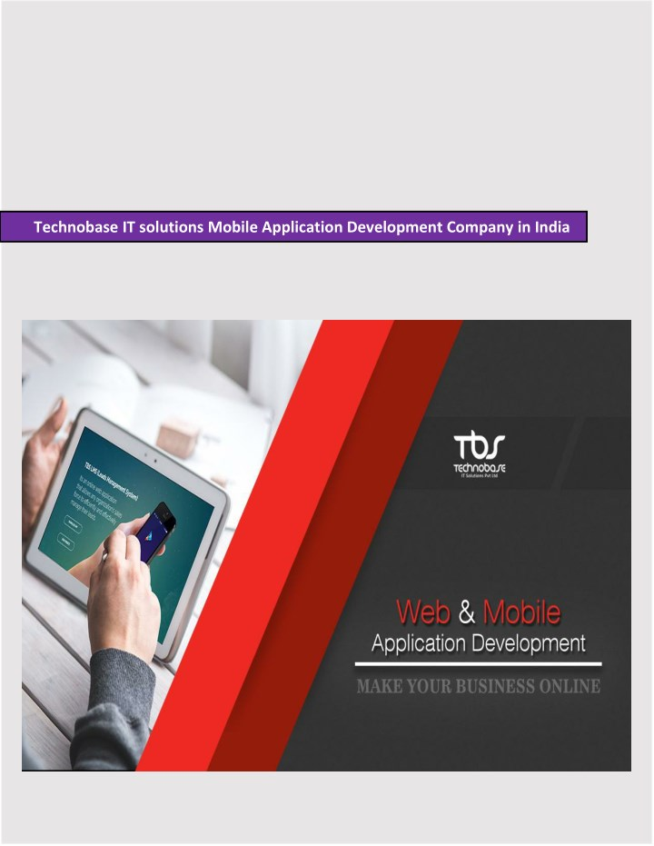 technobase it solutions mobile application n.