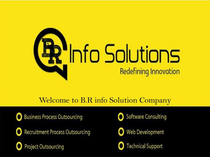 welcome to b r info solution company n.