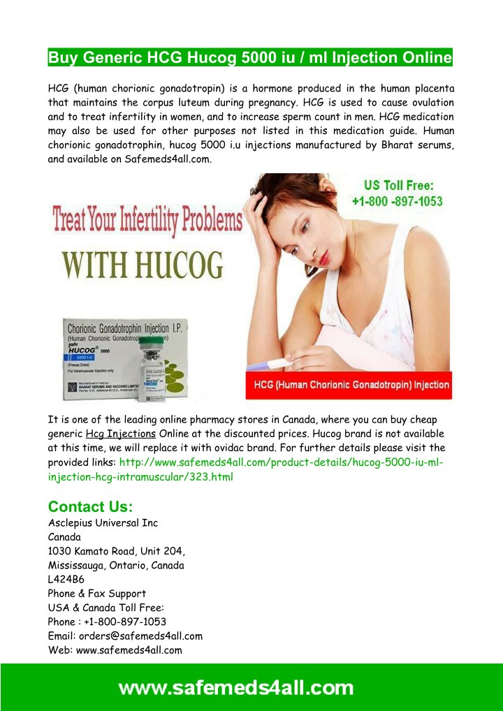 PPT - Buy Generic Hcg Hucog Injection Online PowerPoint