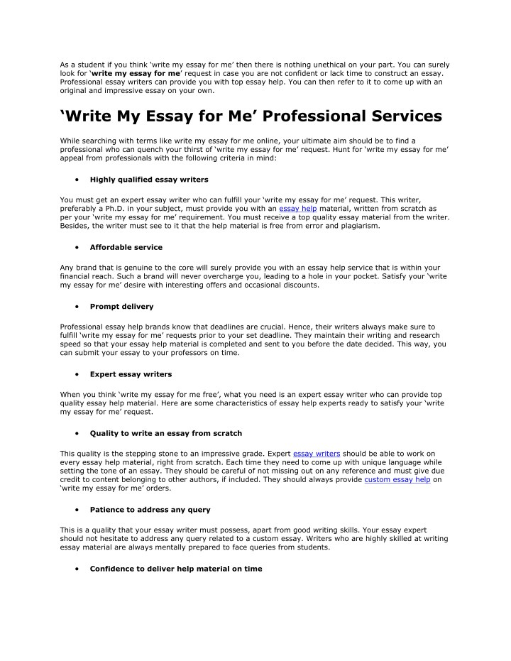 Thesis Of An Essay As A Student If You Think Write My Essay For Me Then There  English Essay On Terrorism also How To Stay Healthy Essay Ppt  Write My Essay For Me Powerpoint Presentation  Id A Modest Proposal Essay Topics