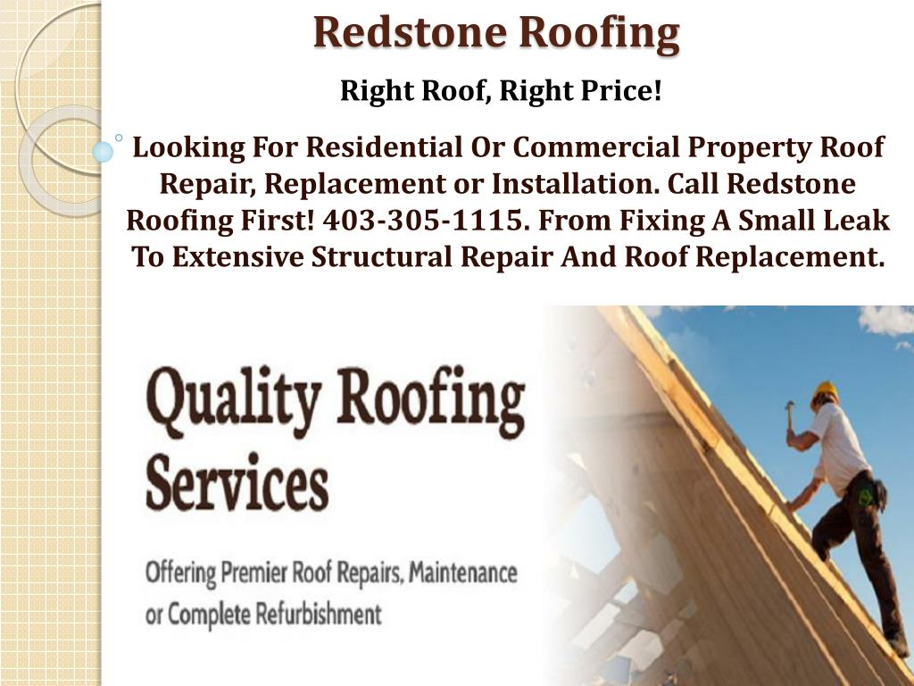 Ppt Commercial Roof Services Powerpoint Presentation
