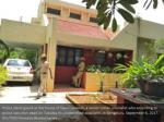 police stand guard at the house of gauri lankesh