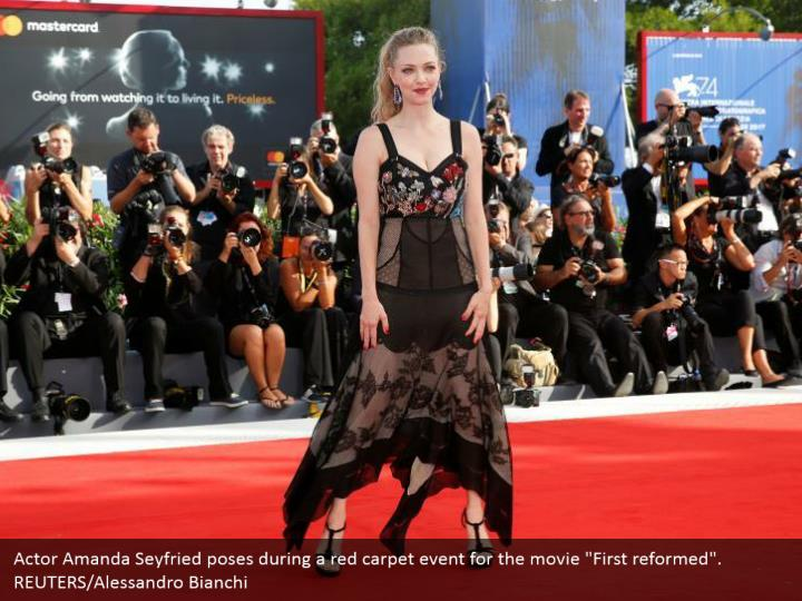 "Actor Amanda Seyfried poses during a red carpet event for the movie ""First reformed"". REUTERS/Alessandro Bianchi"
