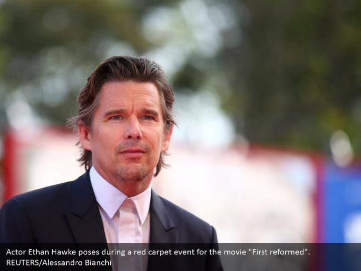 "Actor Ethan Hawke poses during a red carpet event for the movie ""First reformed"". REUTERS/Alessandro Bianchi"
