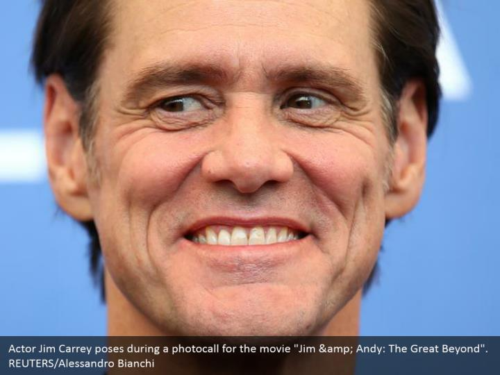"Actor Jim Carrey poses during a photocall for the movie ""Jim & Andy: The Great Beyond"". REUTERS/Alessandro Bianchi"