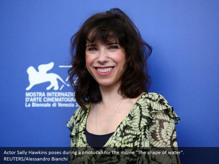 "Actor Sally Hawkins poses during a photocall for the movie ""The shape of water"". REUTERS/Alessandro Bianchi"
