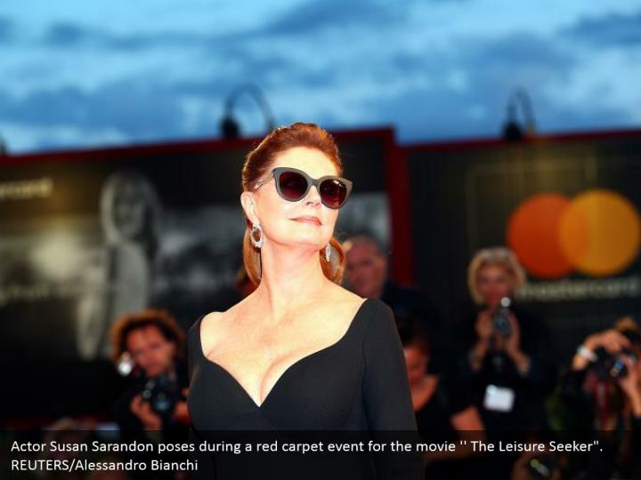 "Actor Susan Sarandon poses during a red carpet event for the movie '' The Leisure Seeker"". REUTERS/Alessandro Bianchi"