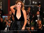 actress claudia gerini poses at the red carpet