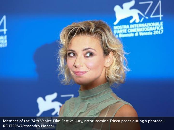 Member of the 74th Venice Film Festival jury, actor Jasmine Trinca poses during a photocall. REUTERS/Alessandro Bianchi