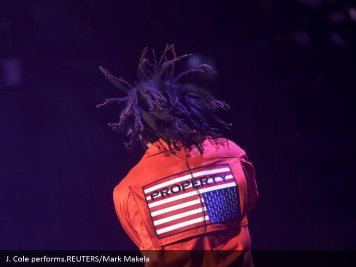 J. Cole performs.REUTERS/Mark Makela
