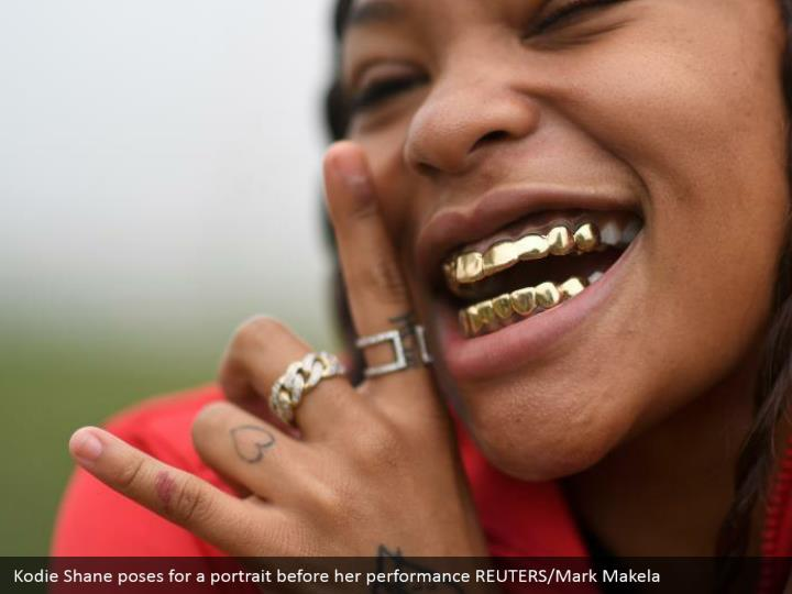 Kodie Shane poses for a portrait before her performance REUTERS/Mark Makela