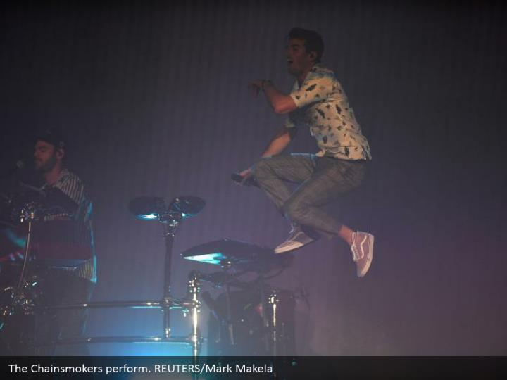 The Chainsmokers perform. REUTERS/Mark Makela