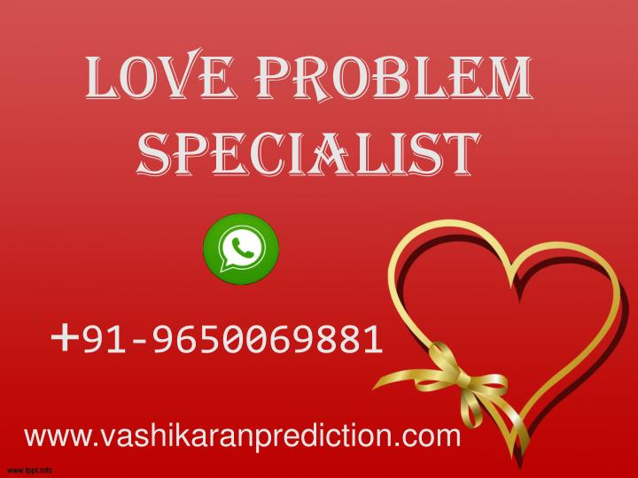 love problem specialist n.