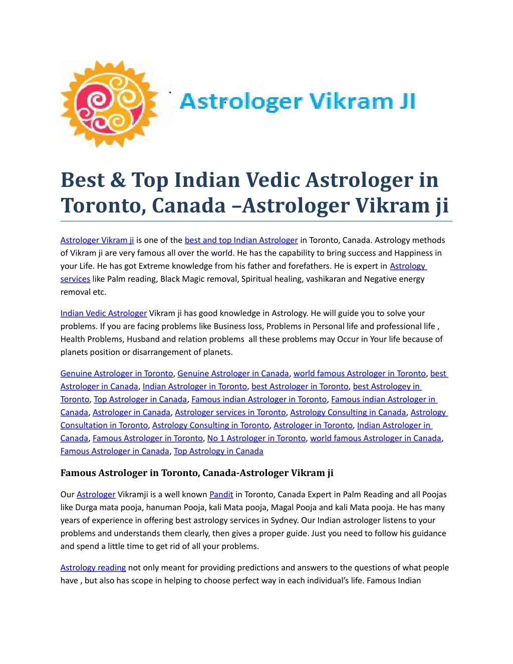 PPT - Best indian vedic Astrologer in Toronto, Canada