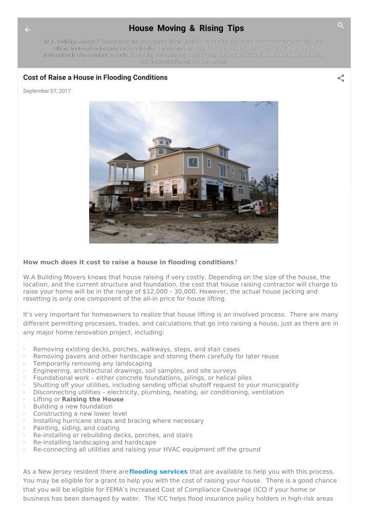 house moving rising tips n.