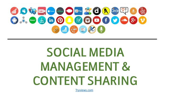 social media management content sharing tryviews n.