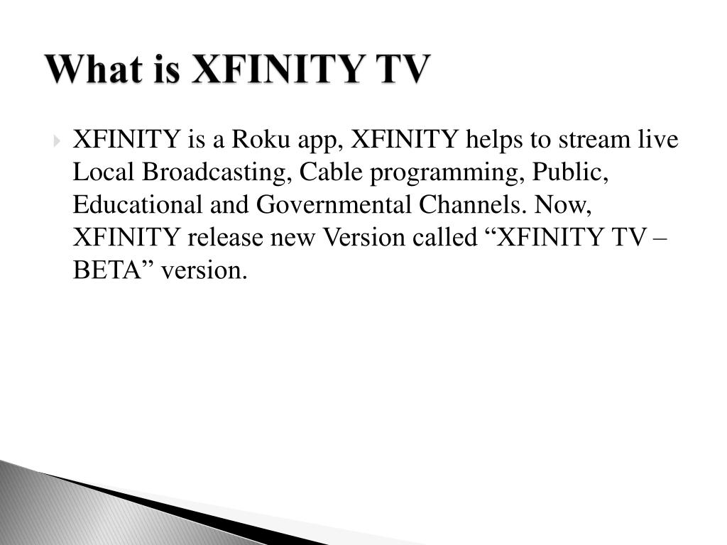 PPT - What is XFINITY TV APP - Beta Version PowerPoint Presentation